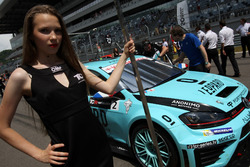 Grid girl of Jean-Karl Vernay, Leopard Racing, Volkswagen Golf GTI TCR