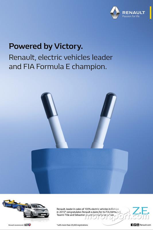 Renault FIA Formula E team title and driver title poster