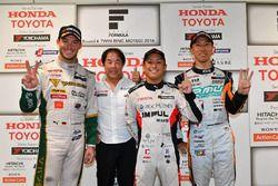 Race winner Yuhi Sekiguchi, Team Impul, second place Andre Lotterer, Team Tom's, third place Hiroaki