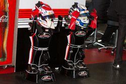 Helmets of Scott Pye and Tony D'Alberto, DJR Team Penske