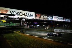 #60 Michael Shank Racing with Curb/Agajanian Ligier JS P2 Honda: John Pew, Oswaldo Negri Jr., Olivier Pla takes the checkered flag