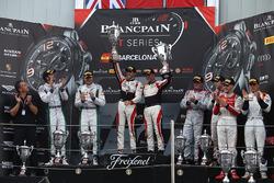 Podium: race winners #88 AKKA ASP Mercedes AMG GT3: Tristan Vautier, Felix Rosenqvist, second place