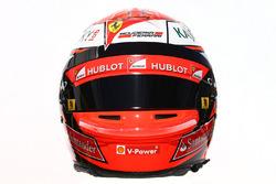 Le casque de Kimi Räikkönen, Ferrari