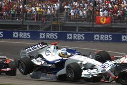 Crash in der ersten Kurve: Nick Heidfeld