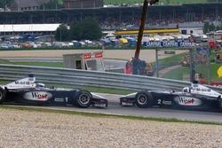 David Coulthard y Mika Hakkinen