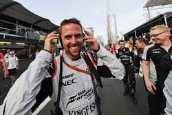 Mark Gray, Sahara Force India F1 Team celebrates third position for Sergio Perez, Sahara Force India