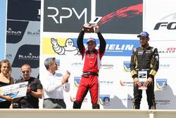 Celebración en el podium