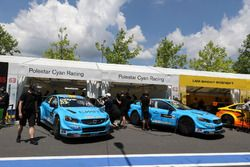 Robert Dahlgren, Polestar Cyan Racing, Volvo S60 Polestar TC1 y Thed Björk, Polestar Cyan Racing, Vo