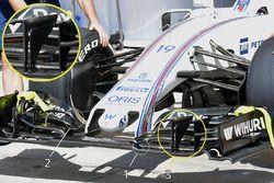 Williams FW38, dettaglio del naso e dell'ala anteriore