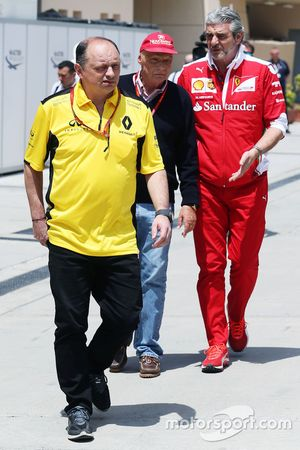 Frederic Vasseur, Renault Sport F1 Team Racing Director con Niki Lauda, Mercedes Presidente no ejecu