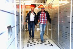 Dr Helmut Marko, Red Bull Motorsport Consultant and Dietrich Mateschitz, Red Bull owner