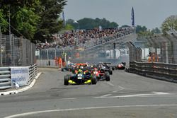 Start, sarı bayrak, kaza, Alessio Lorandi Carlin Dallara F312 – Volkswagen