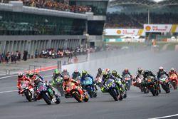 Jorge Lorenzo, Yamaha Factory Racing leidt bij de start