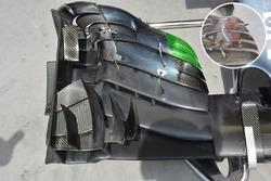 McLaren MP4-31 detalle de ala delantera