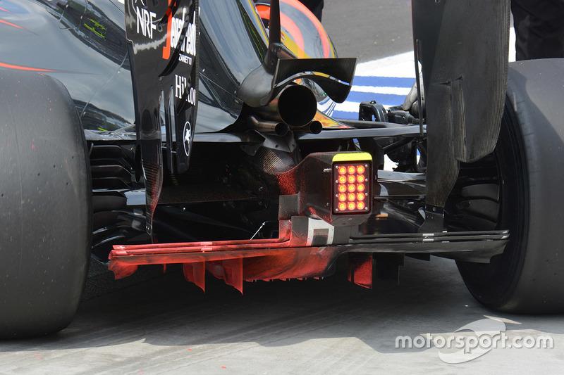 McLaren MP4-31, Diffusor