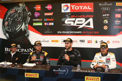 Post-qualifying Press Conference: Polesitter #58 Garage 59, McLaren 650 S GT3: Shane Van Gisbergen; #56 Black Falcon, Mercedes-AMG GT3: Daniel Juncadella; #86 AMG-Team HTP Motorsport, Mercedes-AMG GT3: Maximilian Götz