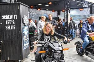 Fans in the Harley-Davidson area