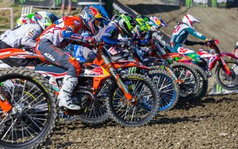 Jeffrey Herlings, Red Bull KTM Factory Racing bij de start van de race