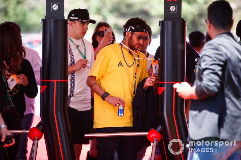 Neymar jr, in the paddock