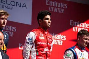 Podium: race winner Jehan Daruvala, PREMA Racing