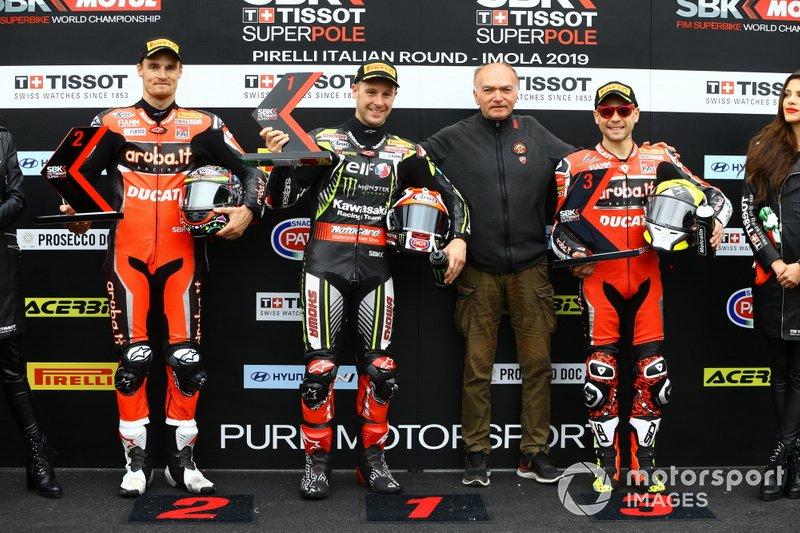 Chaz Davies, Aruba.it Racing-Ducati Team, Jonathan Rea, Kawasaki Racing Team, Alvaro Bautista, Aruba.it Racing-Ducati Team