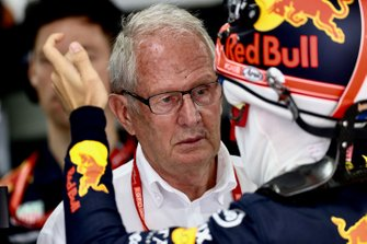 Helmut Markko, Consultant, Red Bull Racing, with Pierre Gasly, Red Bull Racing