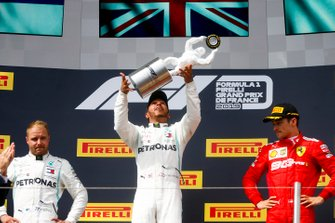 Podium: Race winner Lewis Hamilton, Mercedes AMG F1, second place Valtteri Bottas, Mercedes AMG F1, third place Charles Leclerc, Ferrari