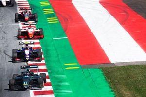 Jake Hughes, HWA RACELAB and Pedro Piquet, Trident et Robert Shwartzman, PREMA Racing et Leonardo Pulcini, Hitech Grand Prix