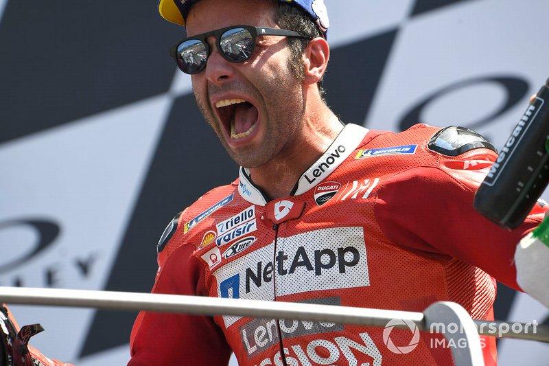 Podio: Danilo Petrucci, Ducati Team
