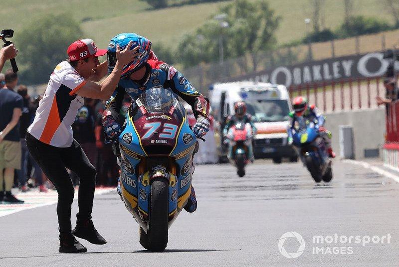 El ganador, Alex Marquez, Marc VDS Racing con Marc Marquez, Repsol Honda Team