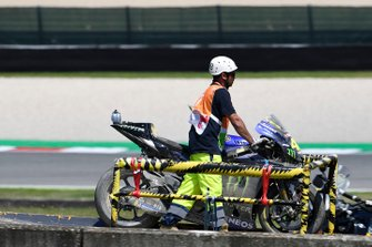 Valentino Rossi, Yamaha Factory Racing crashed bike