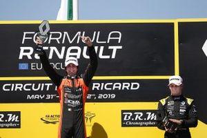 Podium: race 2 winner Lorenzo Colombo, MP motorsport, third place Victor Martins, MP motorsport