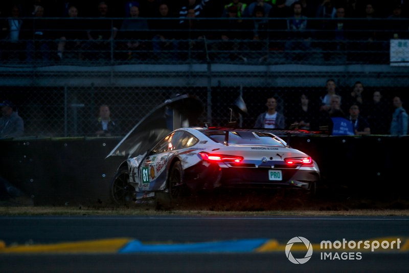L'incidente della #81 BMW Team MTEK BMW M8 GTE: Martin Tomczyk, Nicky Catsburg, Philipp Eng