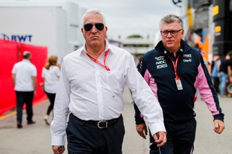 Lawrence Stroll, Owner, Racing Point and Otmar Szafnauer, Team Principal and CEO, Racing Point