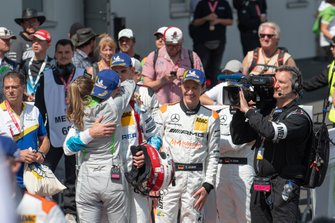 #4 Audi Sport Team Phoenix Audi R8 LMS: Frank Stippler with his girlfriend Eve Scheer