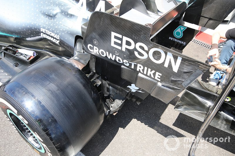 Mercedes AMG F1 W10 rear detail