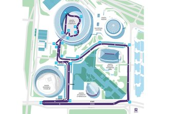 Mapa del circuito de Seúl