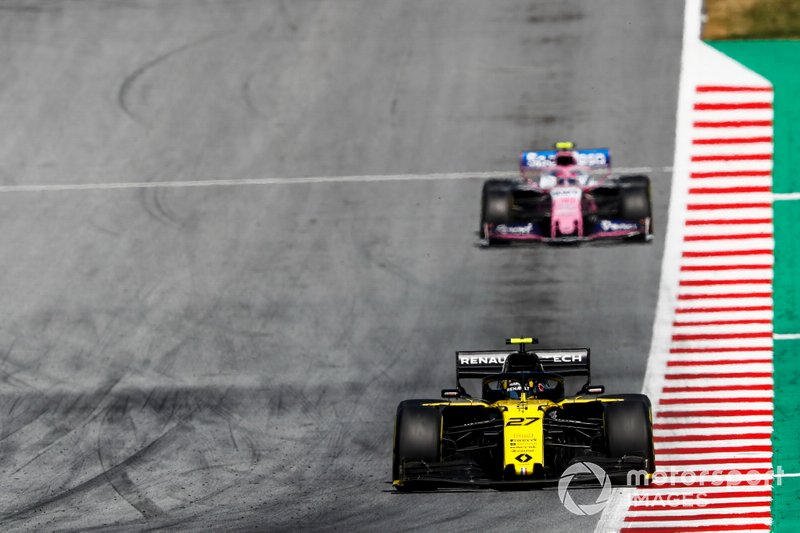 Nico Hulkenberg, Renault F1 Team R.S. 19, Lance Stroll, Racing Point RP19