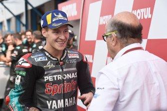 Fabio Quartararo, Petronas Yamaha SRT, Carmelo Ezpeleta, Dorna CEO