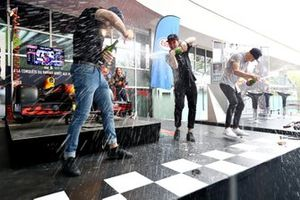 The Red Bull Pit Stop winners celebrate in style