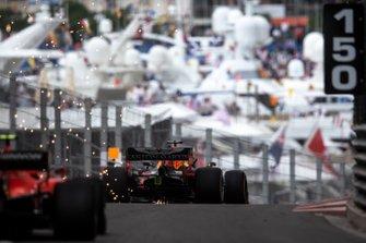 Max Verstappen, Red Bull Racing RB15, leads Charles Leclerc, Ferrari SF90
