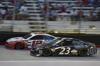 Ryan Blaney, Team Penske, Ford Fusion REV, Blake Jones, BK Racing, Toyota Camry Tennessee XXX Moonshine