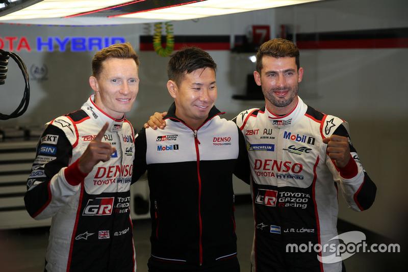 Pole de #7 Toyota Gazoo Racing Toyota TS050: Mike Conway, Kamui Kobayashi, Jose Maria Lopez