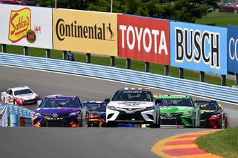 Toyota Camry Pace Car, Denny Hamlin, Joe Gibbs Racing, Toyota Camry FedEx Ground, Kyle Busch, Joe Gibbs Racing, Toyota Camry M&M's Flavor Vote Winner