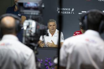 Gil de Ferran, Sporting Director, McLaren in the Press Conference