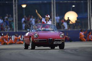 Charles Leclerc, Sauber, durante la drivers parade