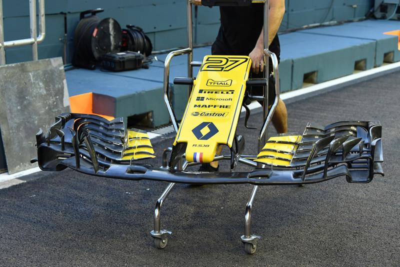 Renault Sport F1 Team RS 18, orr és első szárny
