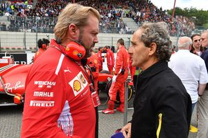 Gino Rosato, Ferrari and Alain Prost, Renault Sport F1 Team Special Advisor on the grid