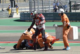 Хорхе Лоренсо, Ducati Team, авария на старте