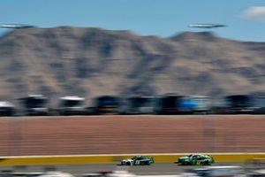 Brandon Jones, Joe Gibbs Racing, Toyota Camry Menards Mastercraft Doors and Ryan Truex, Kaulig Racing, Chevrolet Camaro LeafFilter Gutter Protection